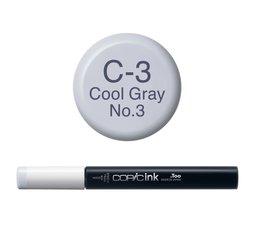 Copic inktflacon Copic inktflacon C3 Cool Gray 3