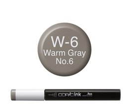 Copic inktflacon Copic inktflacon W6 Warm Gray 6