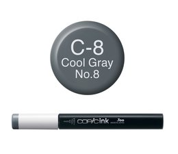 Copic inktflacon Copic inktflacon C8 Cool Gray 8