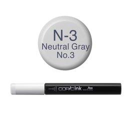 Copic inktflacon Copic inktflacon N3 Neutral Gray 3