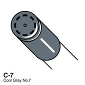 Copic Ciao marker C7 cool gray 7