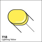 Copic Sketch marker Y18 lightning yellow