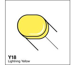 Copic Sketch marker Copic Sketch marker Y18 lightning yellow