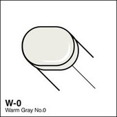 Copic Sketch marker W0 warm gray 0