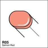 Copic Sketch marker R05 salmon red