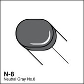 Copic Sketch marker N08 neutral gray 8
