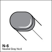 Copic Sketch marker N06 neutral gray 6