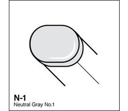 Copic Sketch marker Copic Sketch marker N01 neutral gray 1