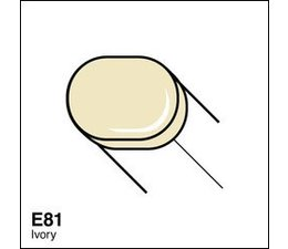 Copic Sketch marker Copic Sketch marker E81 ivory
