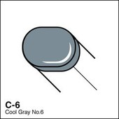 Copic Sketch marker C06 cool gray 6