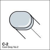 Copic Sketch marker C02 cool gray 2