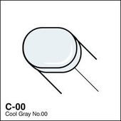 Copic Sketch marker C00 cool gray 00
