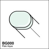 Copic Sketch marker BG000 pale aqua