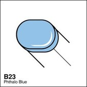 Copic Sketch marker B23 phthalo blue
