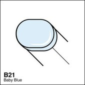 Copic Sketch marker B21 baby blue