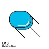Copic Sketch marker B16 cyanine blue