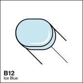 Copic Sketch marker B12 ice blue