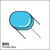 Copic Sketch marker B05 process blue