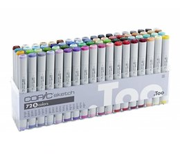 Copic Sketch marker Copic Sketch markerset 72-delig B