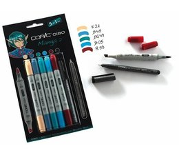 Copic Ciao marker Copic Ciao markerset 5+1 (multiliner) Manga 2