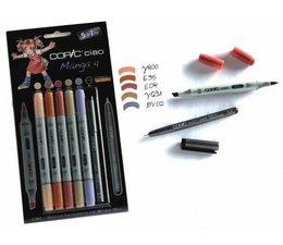 Copic Ciao marker Copic Ciao markerset 5+1 (multiliner) Manga 4