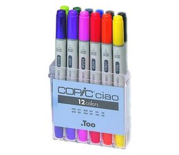 Copic Ciao marker Copic Ciao markerset 12-delig