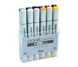 Copic Sketch marker Copic Sketch markerset 12-delig EX-2