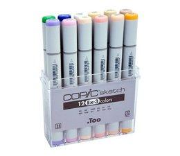 Copic Sketch marker Copic Sketch markerset 12-delig EX-3