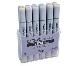 Copic Sketch marker Copic Sketch markerset 12-delig EX-4