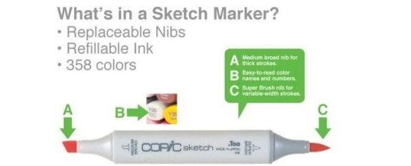 Copic Sketch marker: speciaal geschikt voor designers en het inkleuren bij scrapbooking en stempels