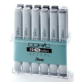 Copic marker original 12-delig toner gray
