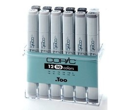Copic marker original Copic markerset 12-delig toner gray
