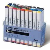 Copic Sketch marker 36-delig basis