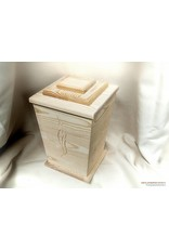 Uitvaartproducten TRADITIONAL eco-urn van massief grenen