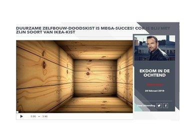 Radio fragment 'Ekdom in de ochtend' - duurzame doodskist per post