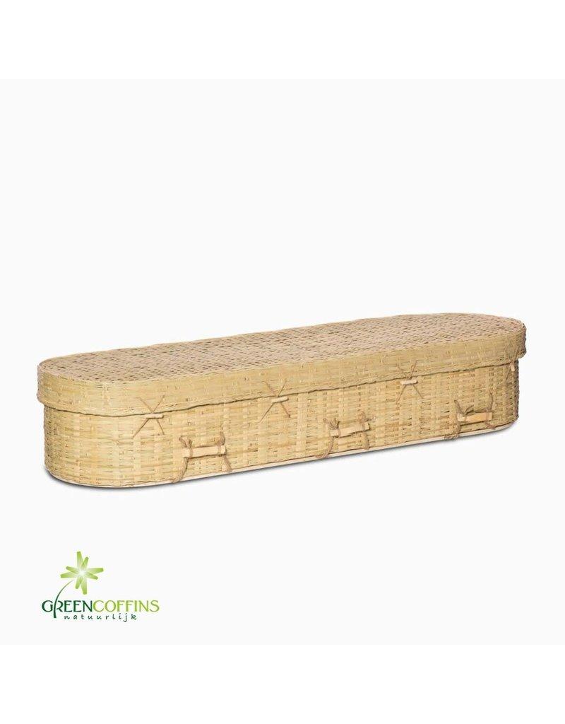 Gevlochten Gevlochten bamboe uitvaartkist