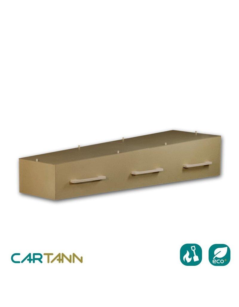 Karton CARTANN milieuvriendelijke uitvaartkist van stevig bordkarton met opbaardeksel