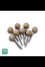 Uitvaartproducten Sluitschroef met ronde houten bol 18 mm