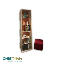 Populier CHISTANN - boekenkast-grafkist setje
