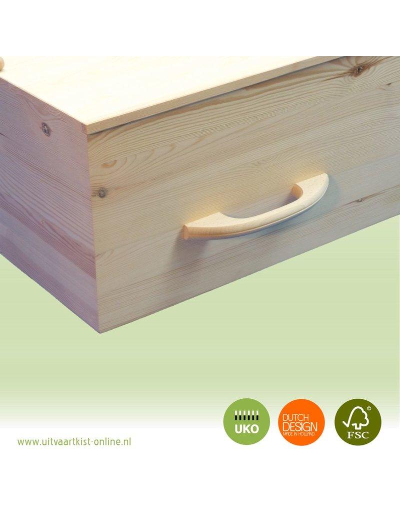 Uitvaartproducten Losse houten grafkist booggrepen
