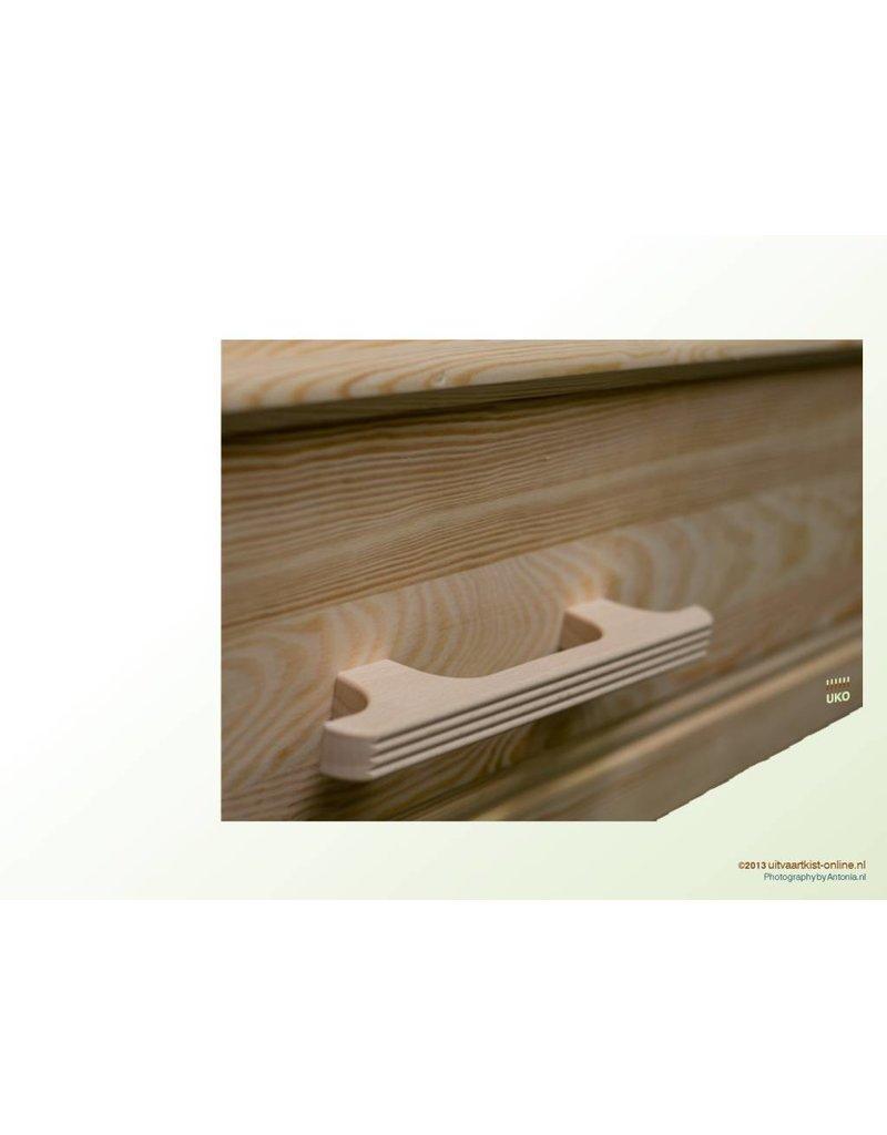 Uitvaartproducten Losse houten handgrepen, recht model 6 of 8 stuks