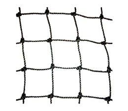 Ballenvangernet, PE Geknoopt 100 x 100 x 3 mm, Zwart