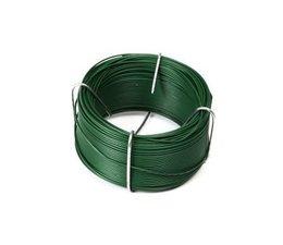 Groen geplastificeerd draad op spoel