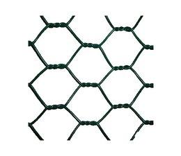 Zeskant vlechtwerk Rol a 10M Groen geplastificeerd