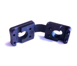 Tension Rod Clamp, Noir RAL 9005, servant de bar autour de 6 mm