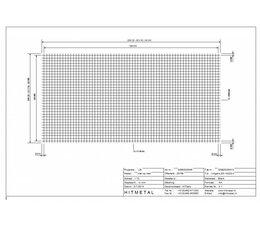 Drahtdurchmesser 3.0, Abmessungen 2000 x 1000 mm