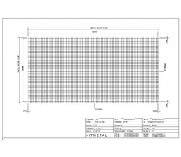 Wire Diameter 3.0, Dimensions 2500 x 1250 mm
