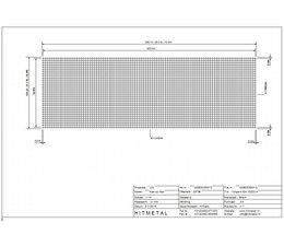 Draaddiameter 3.0, Afmeting 3000 x 1000 mm