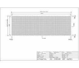 Draaddiameter 4.0, Afmeting 3000 x 1000 mm