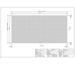 Draaddiameter 4.0, Afmeting 3000 x 1500 mm